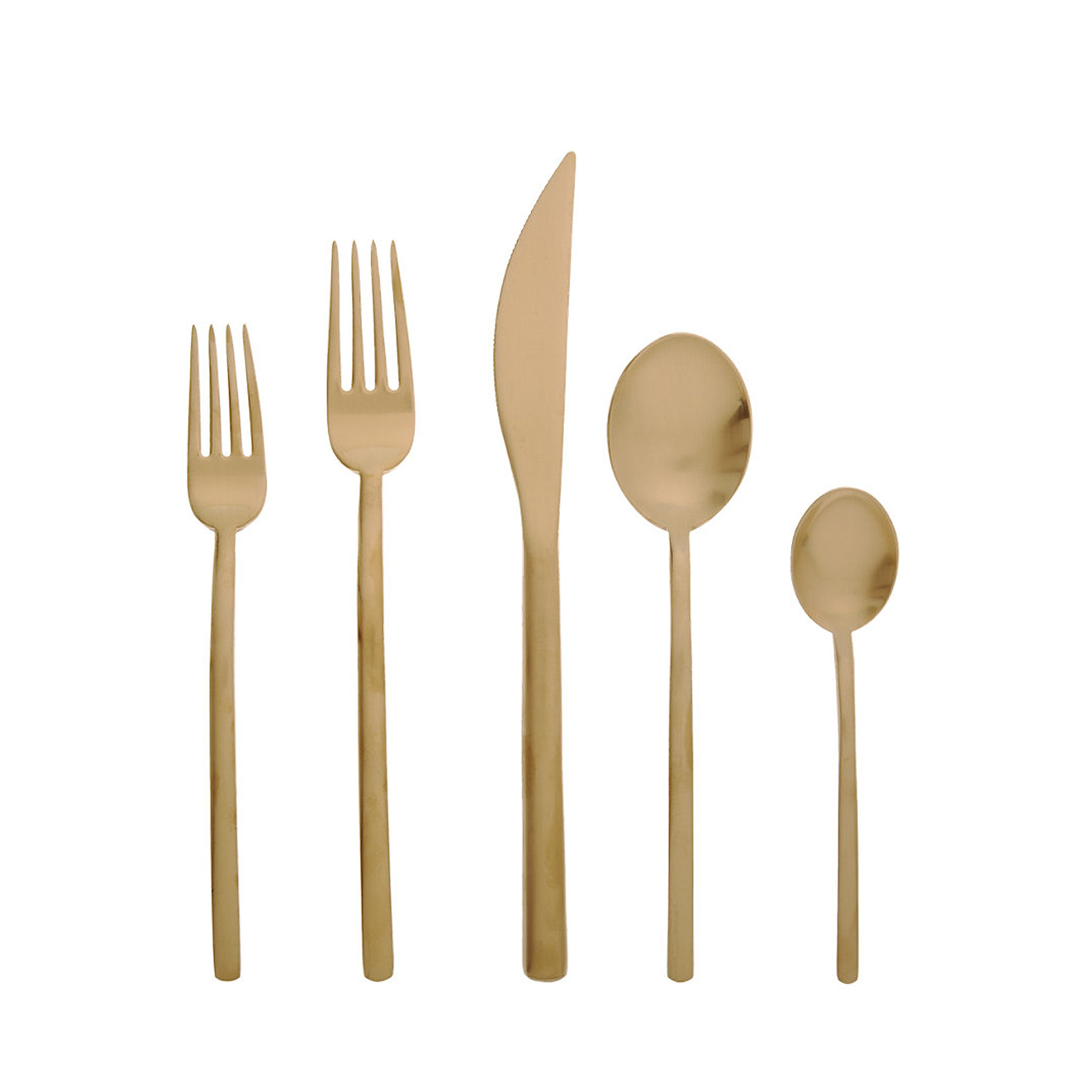 Chic gold flatware for kitchen and dining sets ideas with gold flatware set