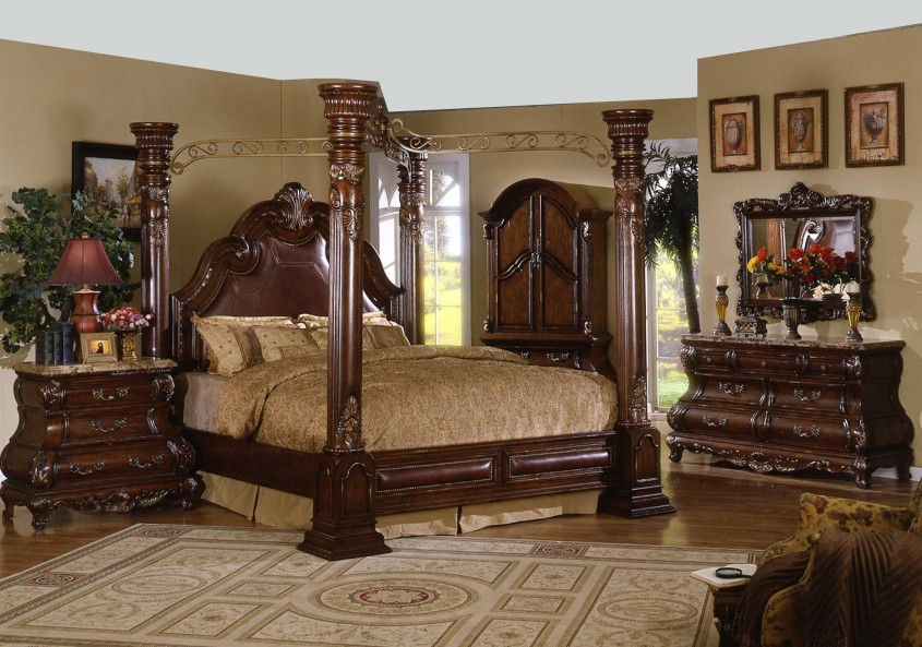 Chic King Canopy Bed For Classic Bedroom Ideas With King Size Canopy Bed