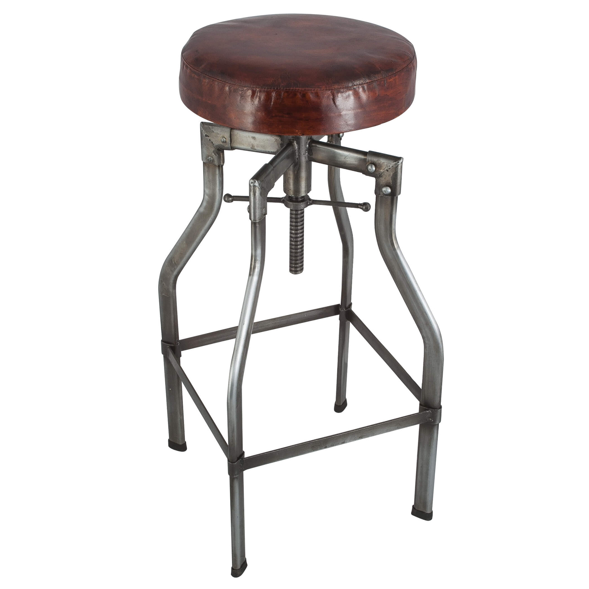 Chic leather bar stools for home furniture with leather swivel bar stools