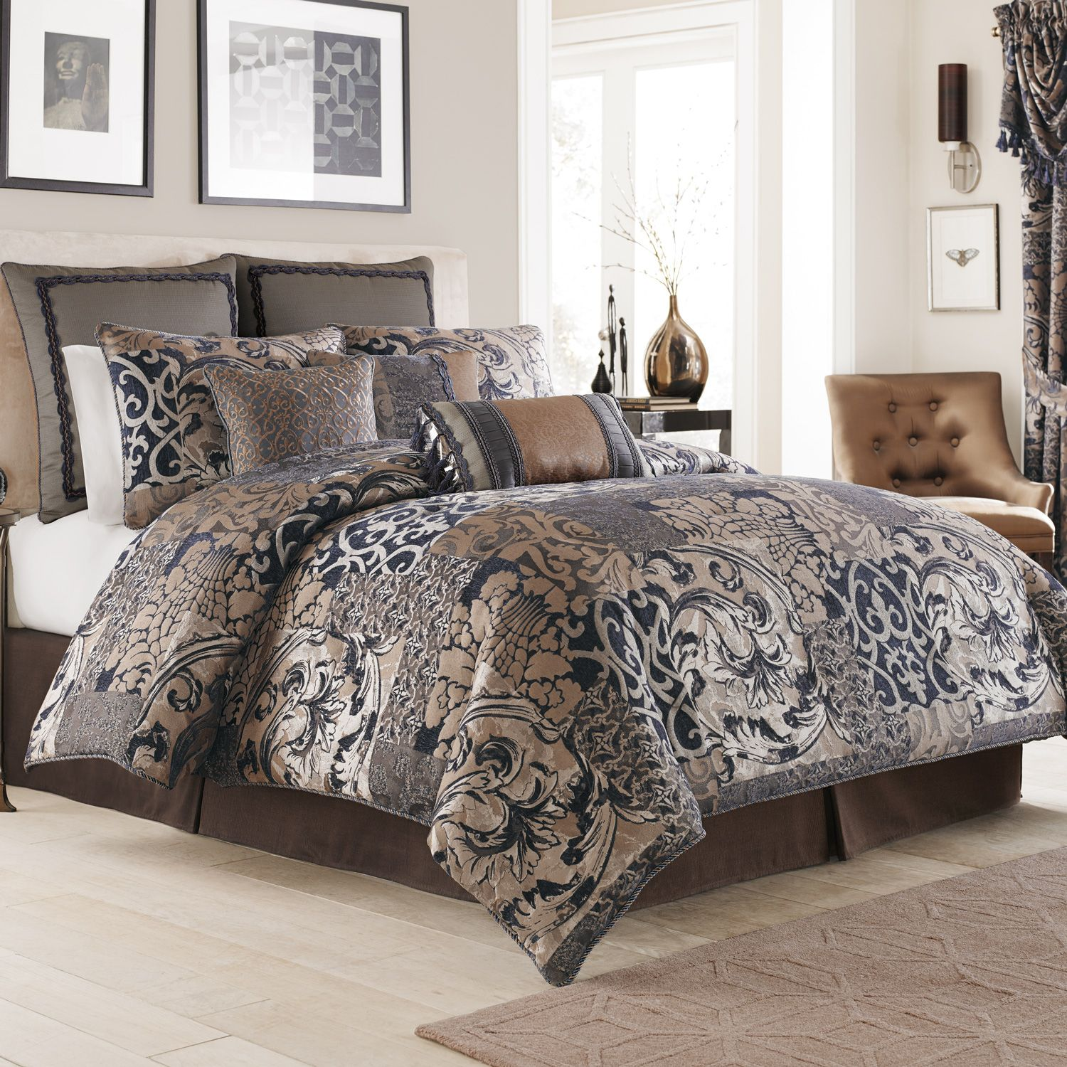 Chic queen size comforter sets for bedroom design with cheap queen size comforter sets
