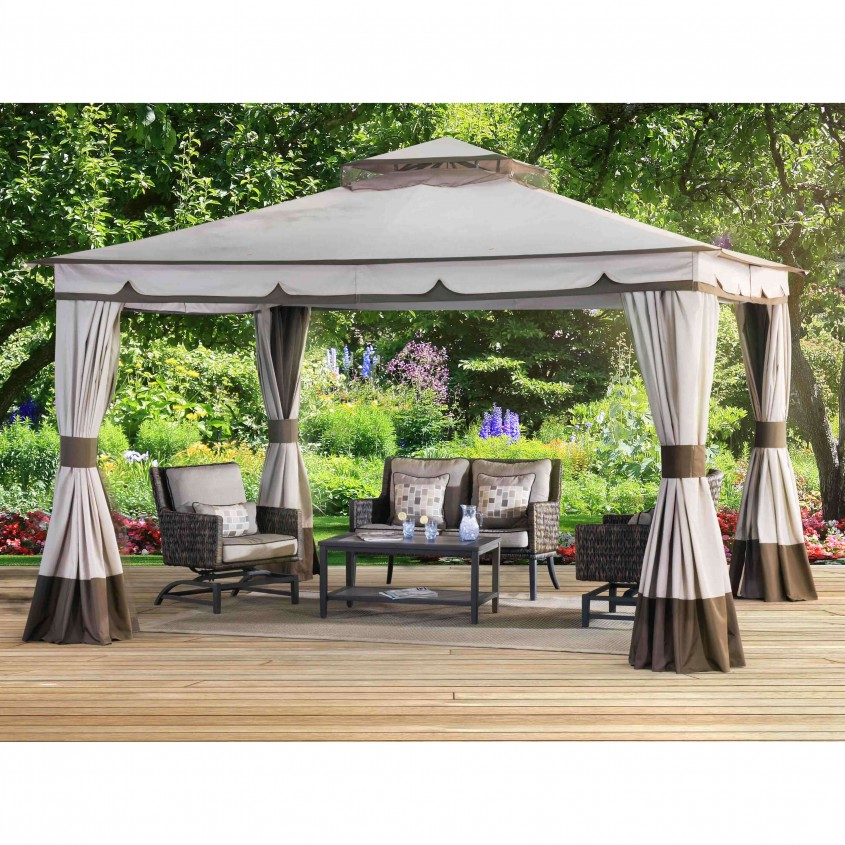 Chic Sunjoy Gazebo For Garden Ideas With Sunjoy Hardtop Gazebo And Sunjoy Grill Gazebo