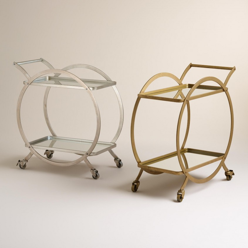 Classy Bar Carts For Bar Furniture Ideas With Gold Bar Cart And Diy Bar Cart