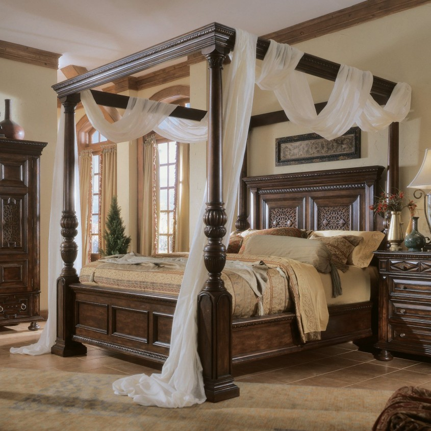 Classy King Canopy Bed For Classic Bedroom Ideas With King Size Canopy Bed