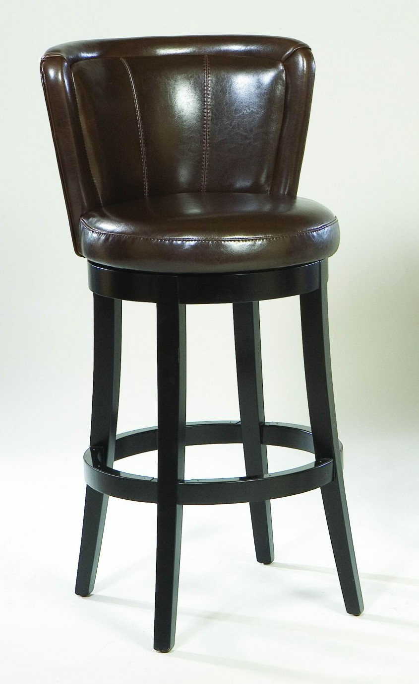 Classy Leather Bar Stools For Home Furniture With Leather Swivel Bar Stools