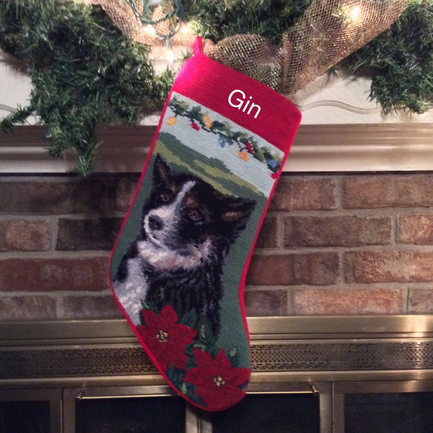 Classy personalized needlepoint christmas stockings for christmas decorating ideas with needlepoint christmas stockings personalized
