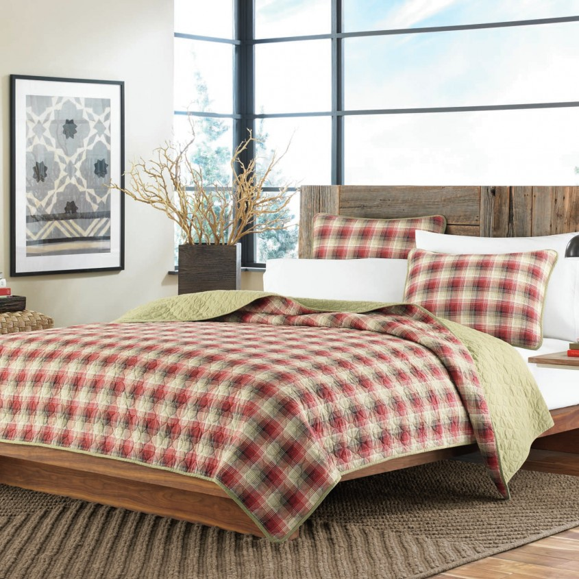 Comfy Plaid Bedding For Simple Bedroom Design With Ralph Lauren Plaid Bedding