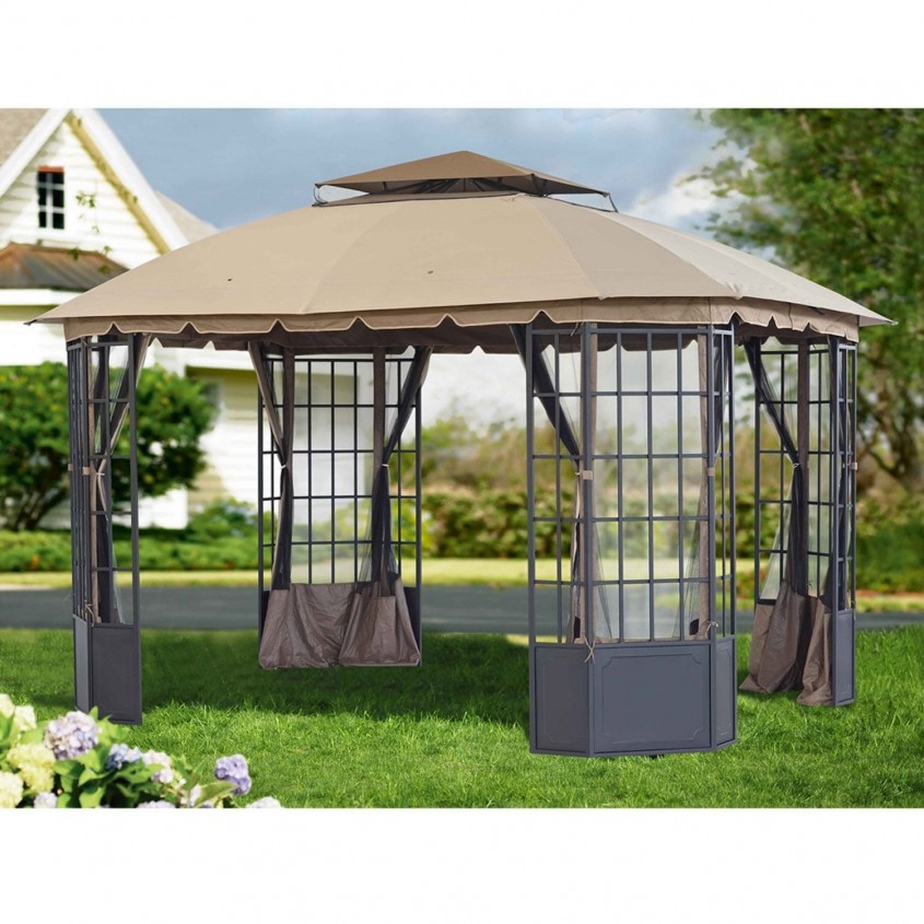 Comfy Sunjoy Gazebo For Garden Ideas With Sunjoy Hardtop Gazebo And Sunjoy Grill Gazebo