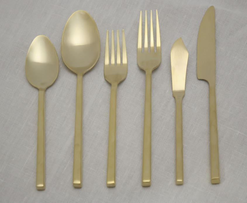 Cool Gold Flatware For Kitchen And Dining Sets Ideas With Gold Flatware Set