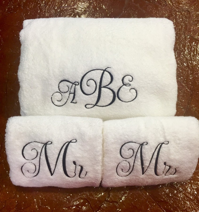 Cool Monogrammed Towels For Bathroom Ideas With Monogrammed Bath Towels