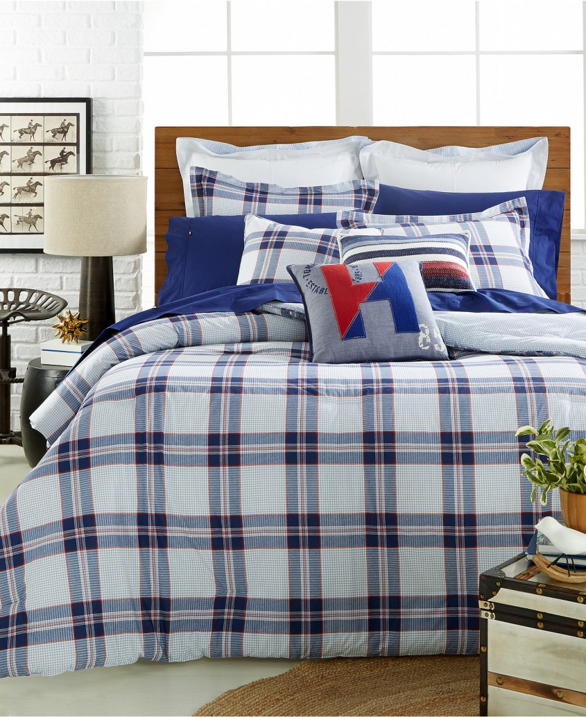 Cool Plaid Bedding For Simple Bedroom Design With Ralph Lauren Plaid Bedding