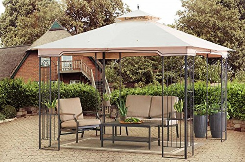 Cool Sunjoy Gazebo For Garden Ideas With Sunjoy Hardtop Gazebo And Sunjoy Grill Gazebo