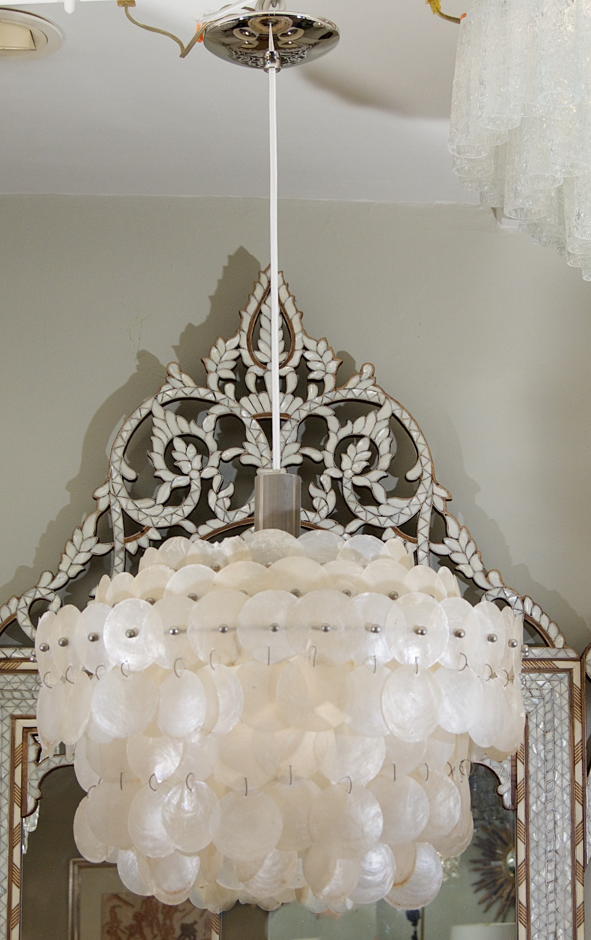 Cozy capiz chandelier for home lighting design with rectangular capiz chandelier