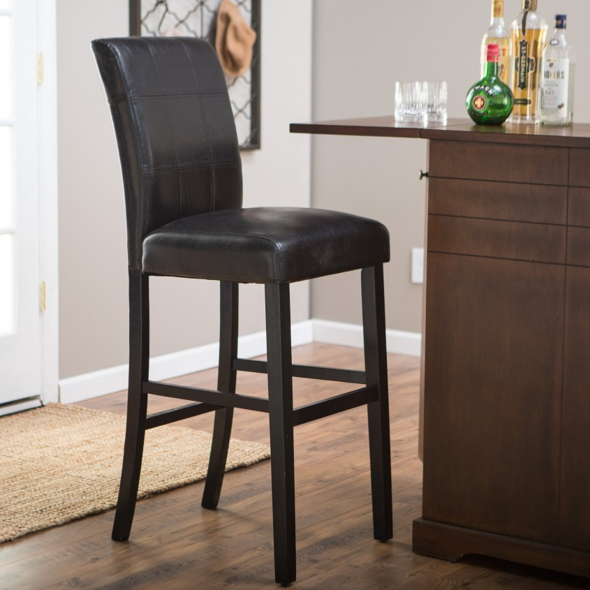 Cozy Leather Bar Stools For Home Furniture With Leather Swivel Bar Stools
