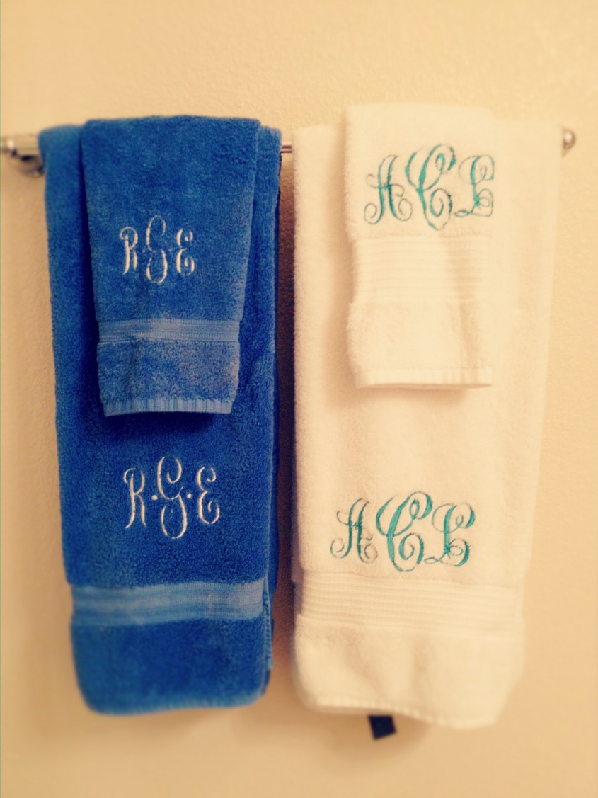 Cozy Monogrammed Towels For Bathroom Ideas With Monogrammed Bath Towels
