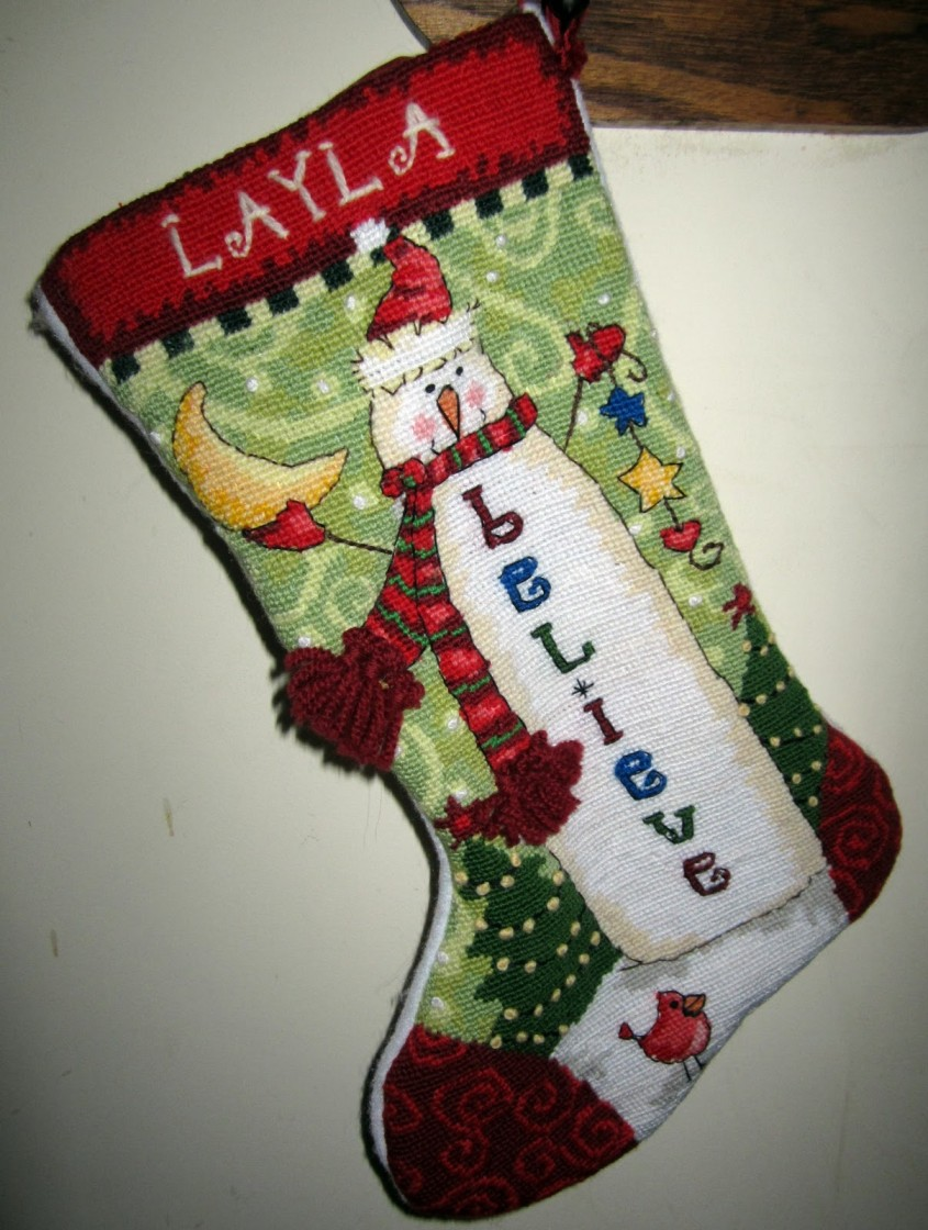 Cozy Personalized Needlepoint Christmas Stockings For Christmas Decorating Ideas With Needlepoint Christmas Stockings Personalized