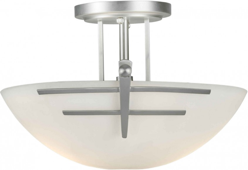 Cozy Semi Flush Ceiling Light For Home Lighting Design With Brushed Nickel Semi Flush Ceiling Light