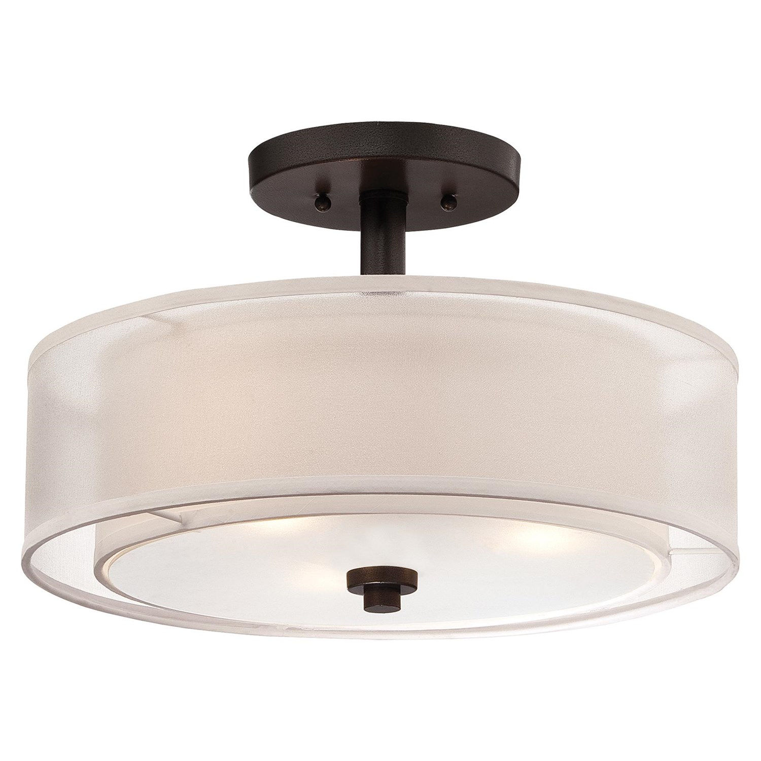 Creative semi flush ceiling light for home lighting design with brushed nickel semi flush ceiling light