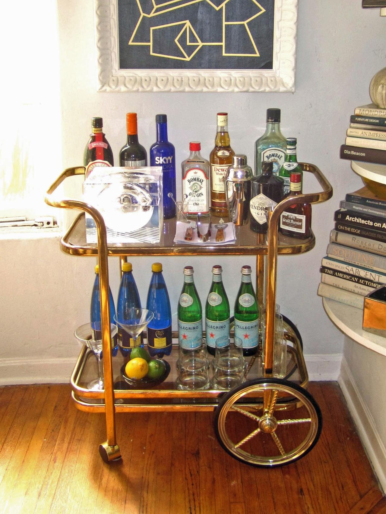 Cute bar carts for bar furniture ideas with gold bar cart and diy bar cart