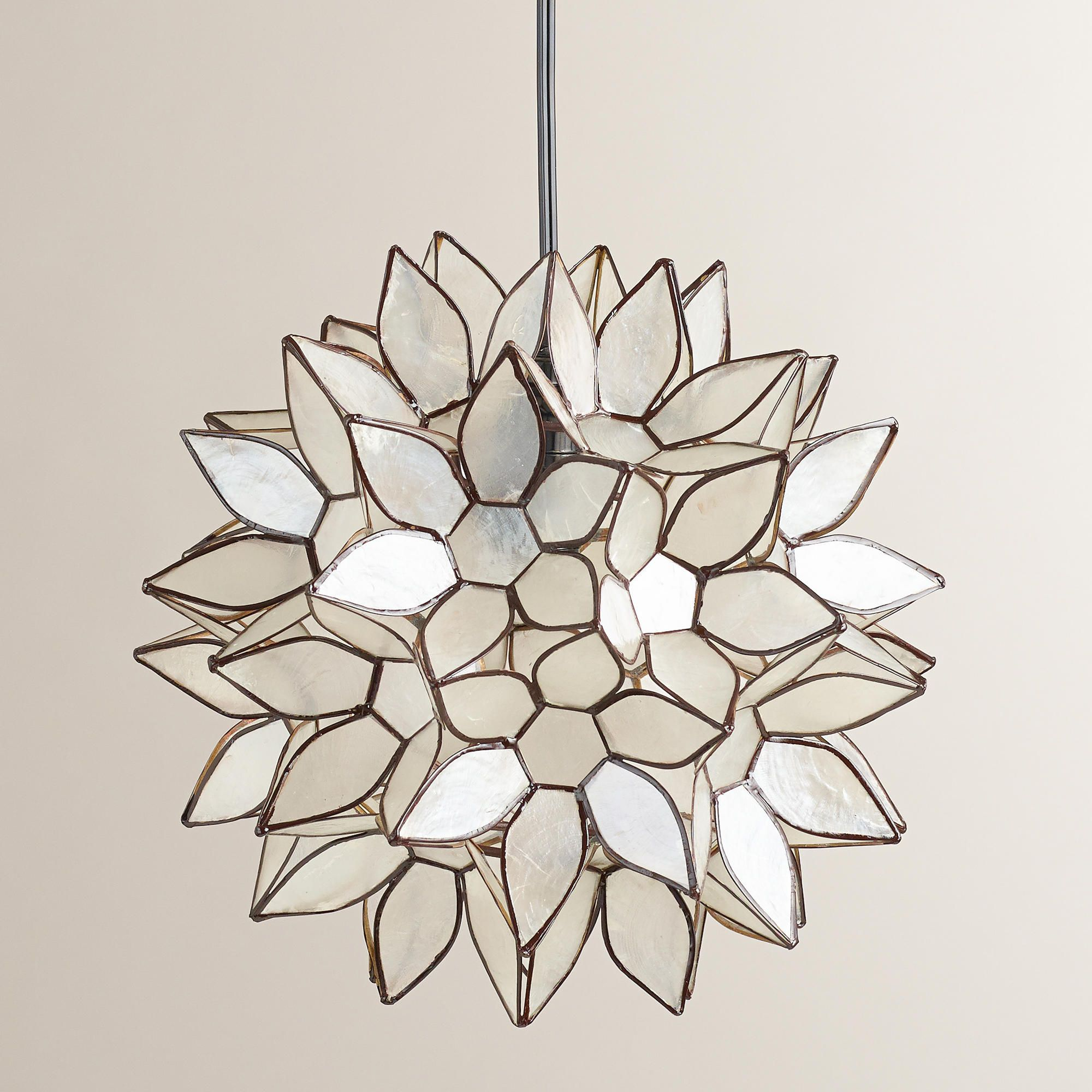 lotus flower capiz chandelier
