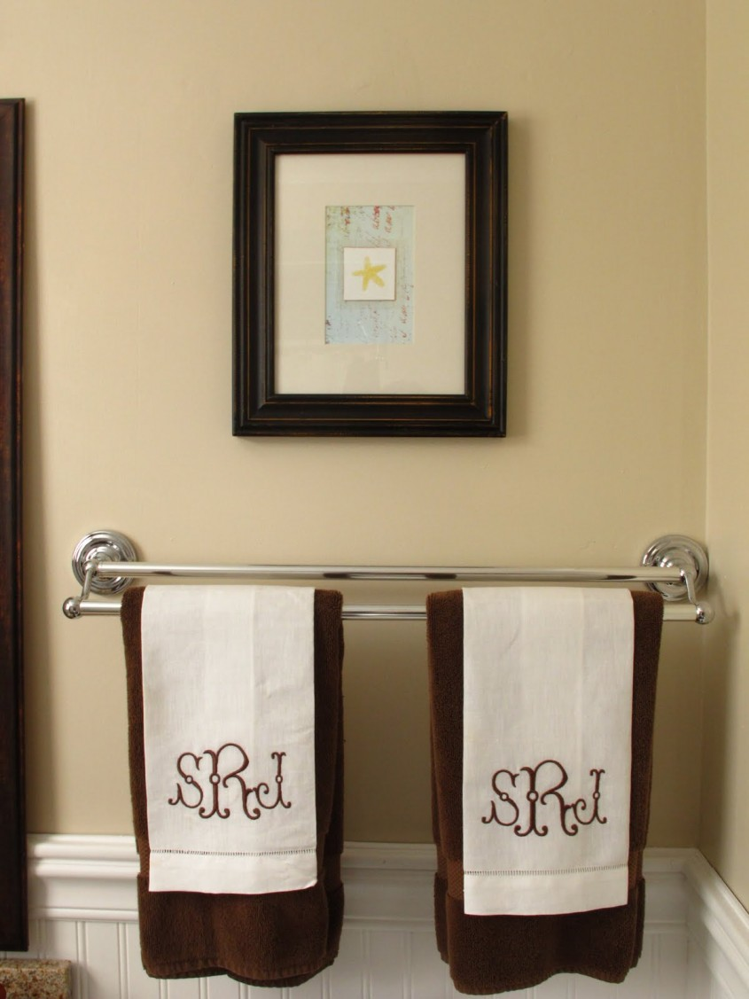 Cute Monogrammed Towels For Bathroom Ideas With Monogrammed Bath Towels