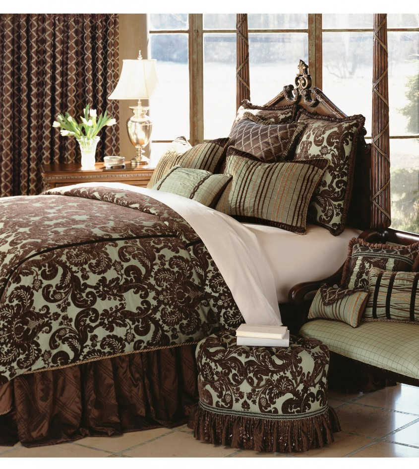 Dazzling Damask Bedding For Bed Decorating Ideas With Damask Bedding Set And Damask Crib Bedding