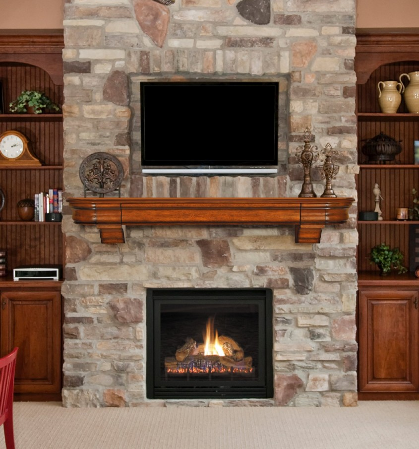 Dazzling Fireplace Mantle For Interior Living Room With Electric Fireplace With Mantle