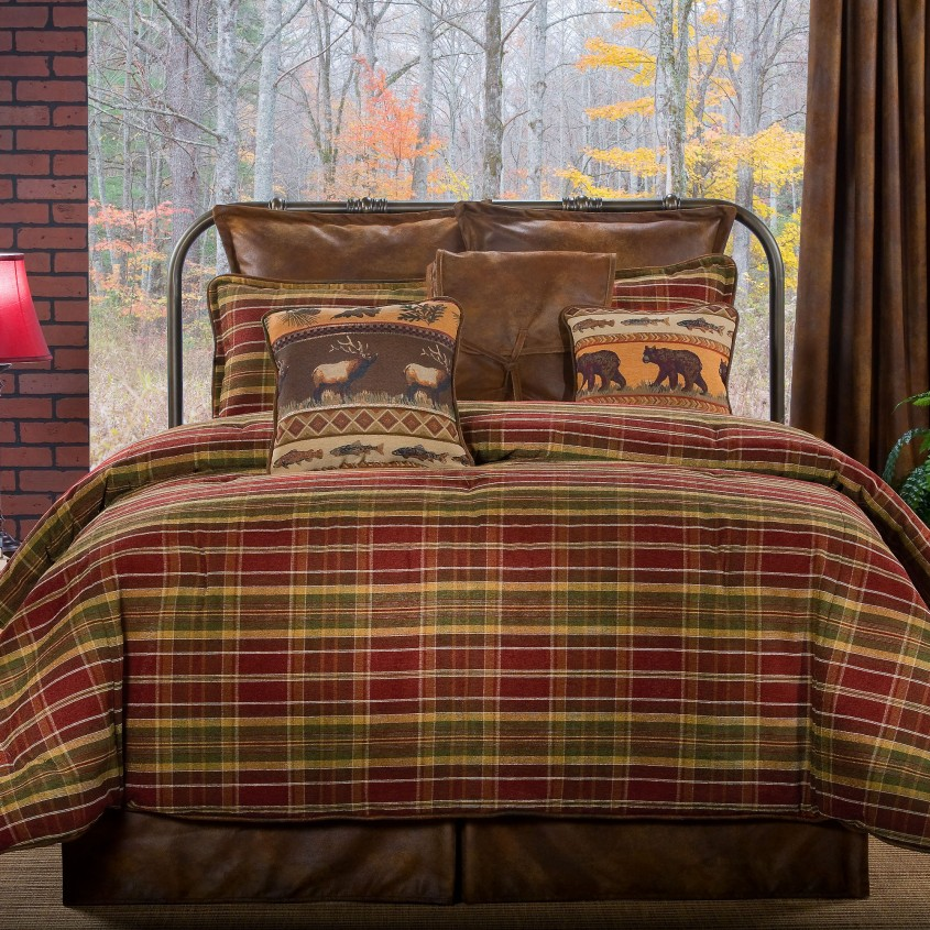 Dazzling Plaid Bedding For Simple Bedroom Design With Ralph Lauren Plaid Bedding