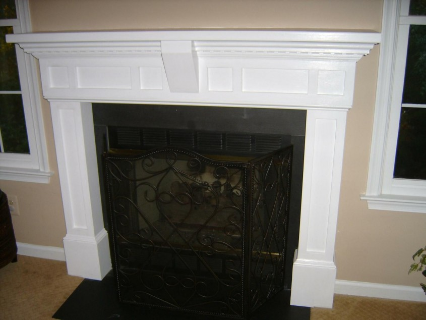 Elegant Fireplace Mantle For Interior Living Room With Electric Fireplace With Mantle