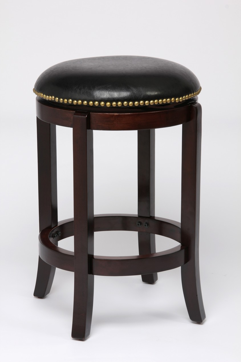 Elegant Leather Bar Stools For Home Furniture With Leather Swivel Bar Stools