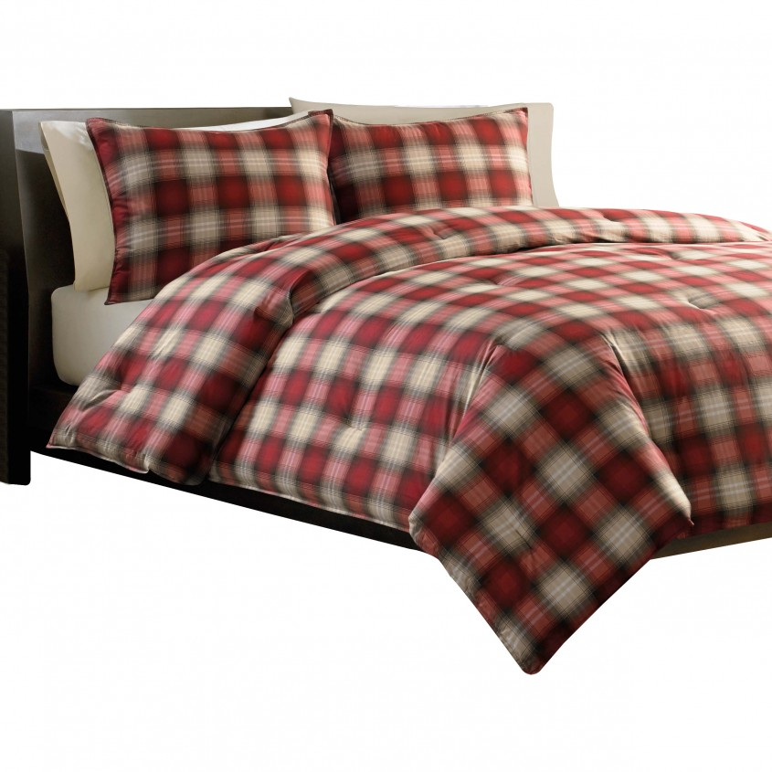 Elegant Plaid Bedding For Simple Bedroom Design With Ralph Lauren Plaid Bedding