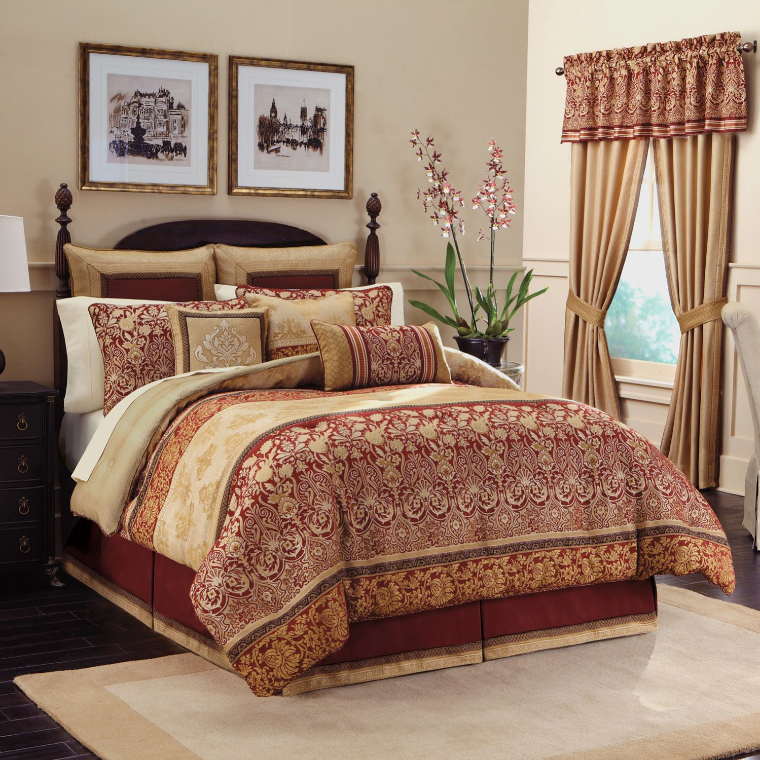 Elegant queen size comforter sets for bedroom design with cheap queen size comforter sets