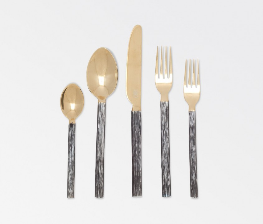 Enchanting Gold Flatware For Kitchen And Dining Sets Ideas With Gold Flatware Set