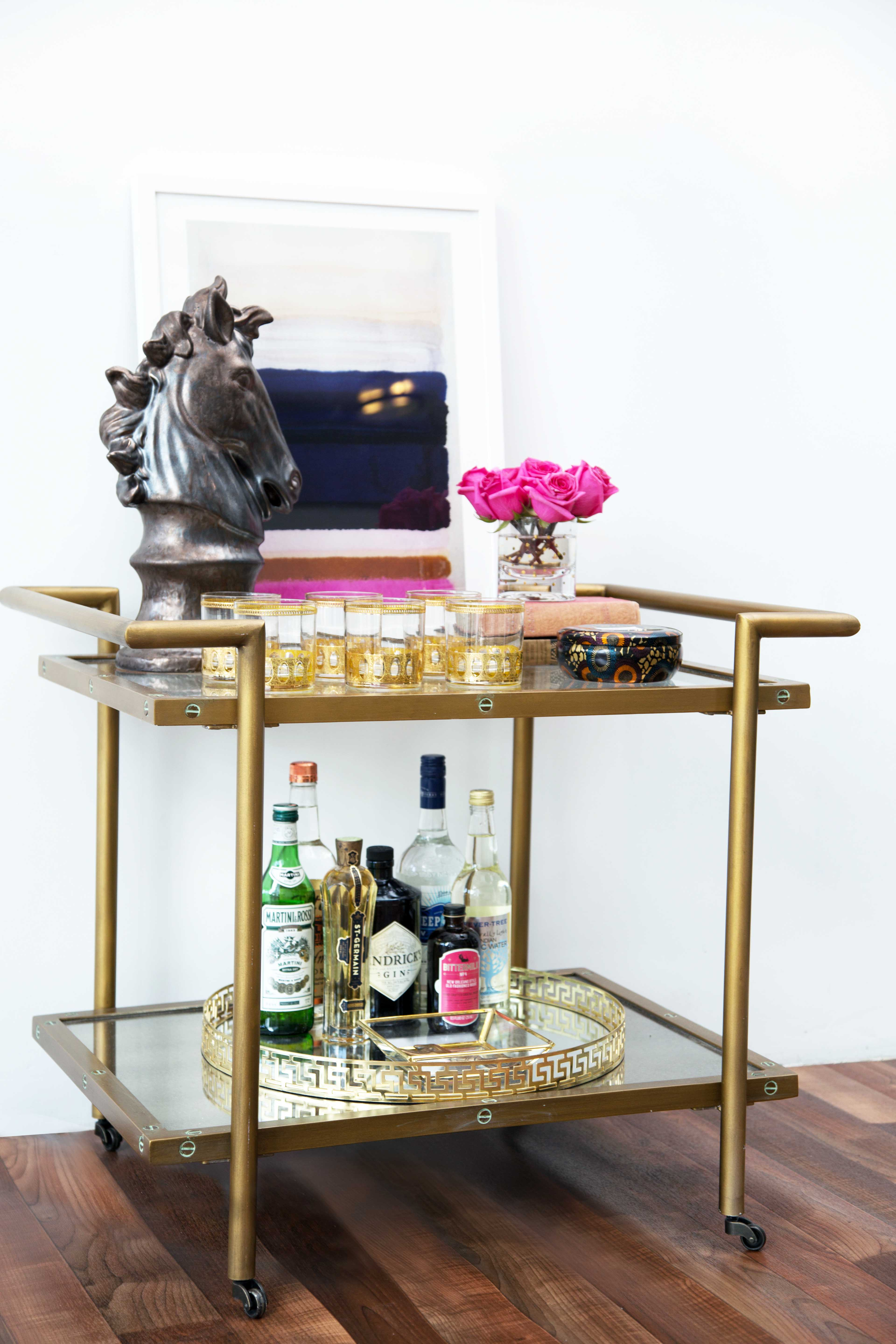 Excellent bar carts for bar furniture ideas with gold bar cart and diy bar cart