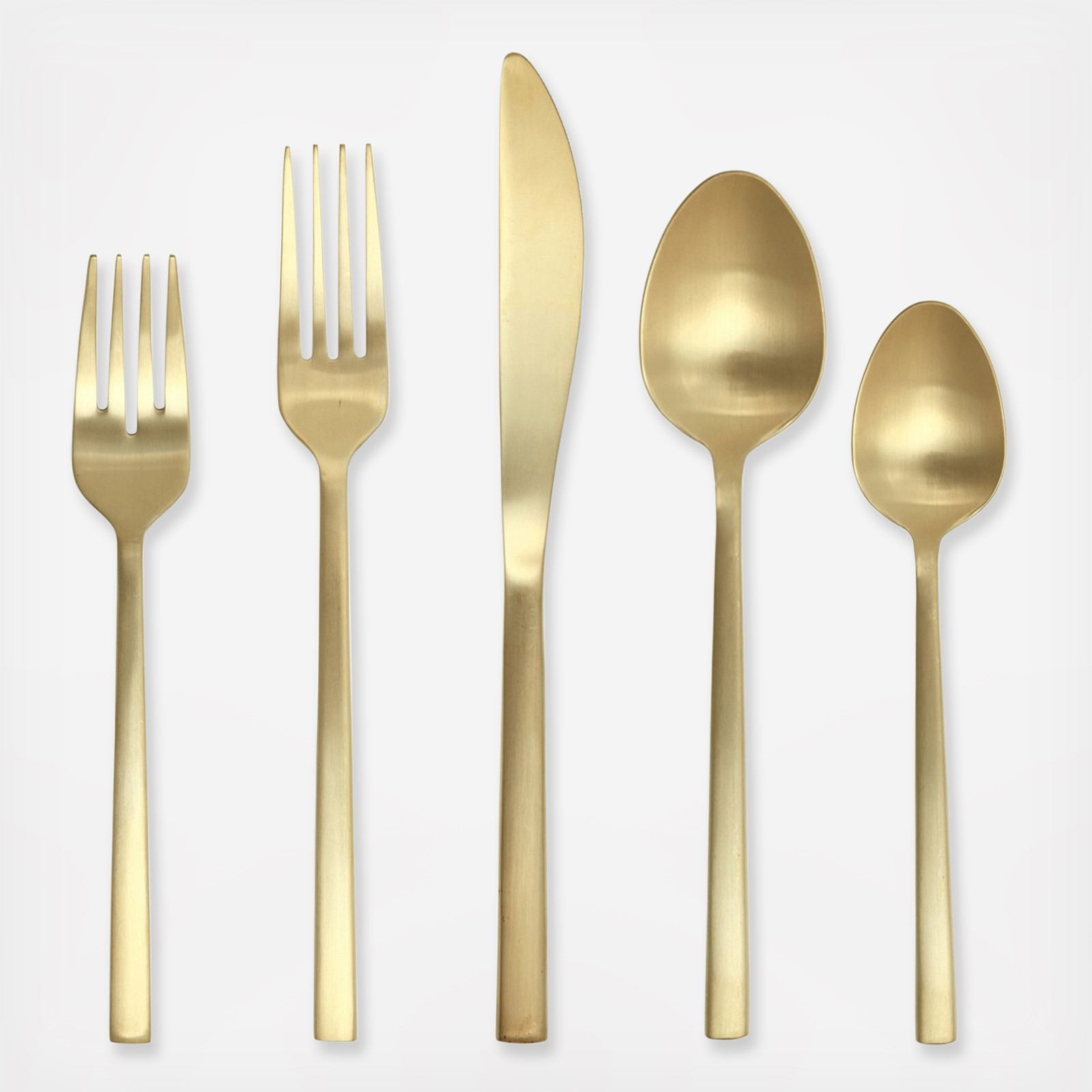 Excellent gold flatware for kitchen and dining sets ideas with gold flatware set