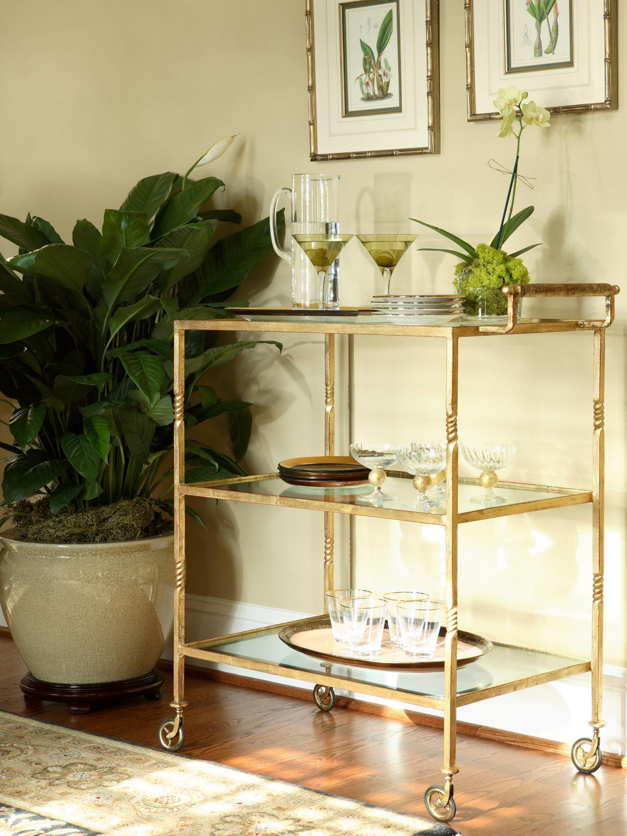 Exciting bar carts for bar furniture ideas with gold bar cart and diy bar cart