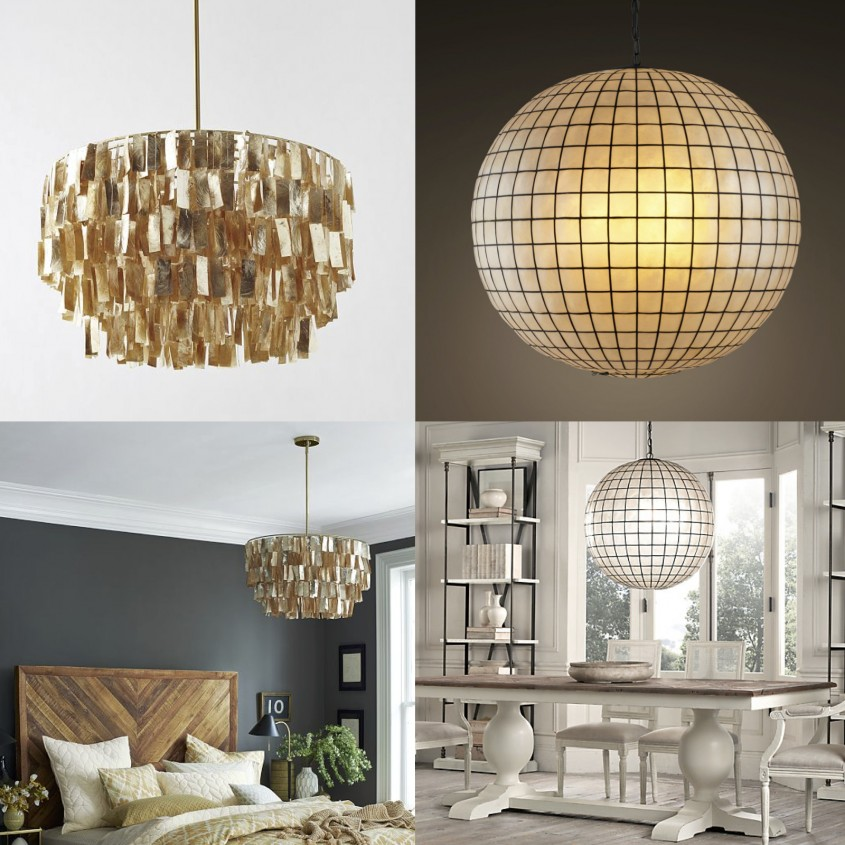 Exciting Capiz Chandelier For Home Lighting Design With Rectangular Capiz Chandelier