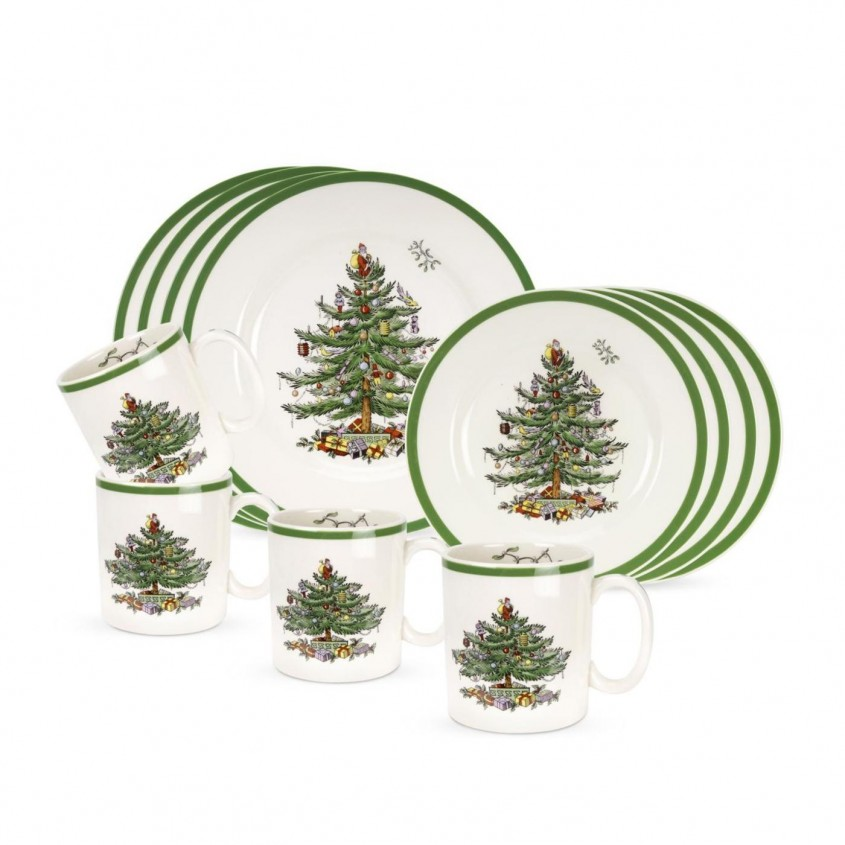 Exciting Christmas Dinnerware For Christmas Decorating Ideas With Christmas Dinnerware Sets Clearance