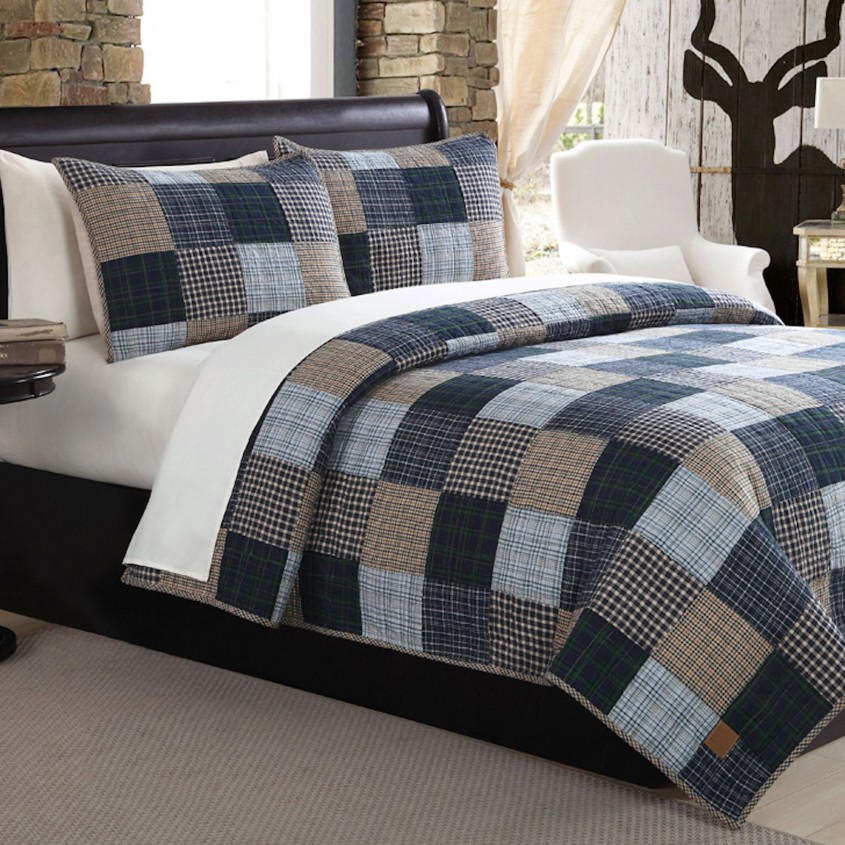 Exciting Plaid Bedding For Simple Bedroom Design With Ralph Lauren Plaid Bedding