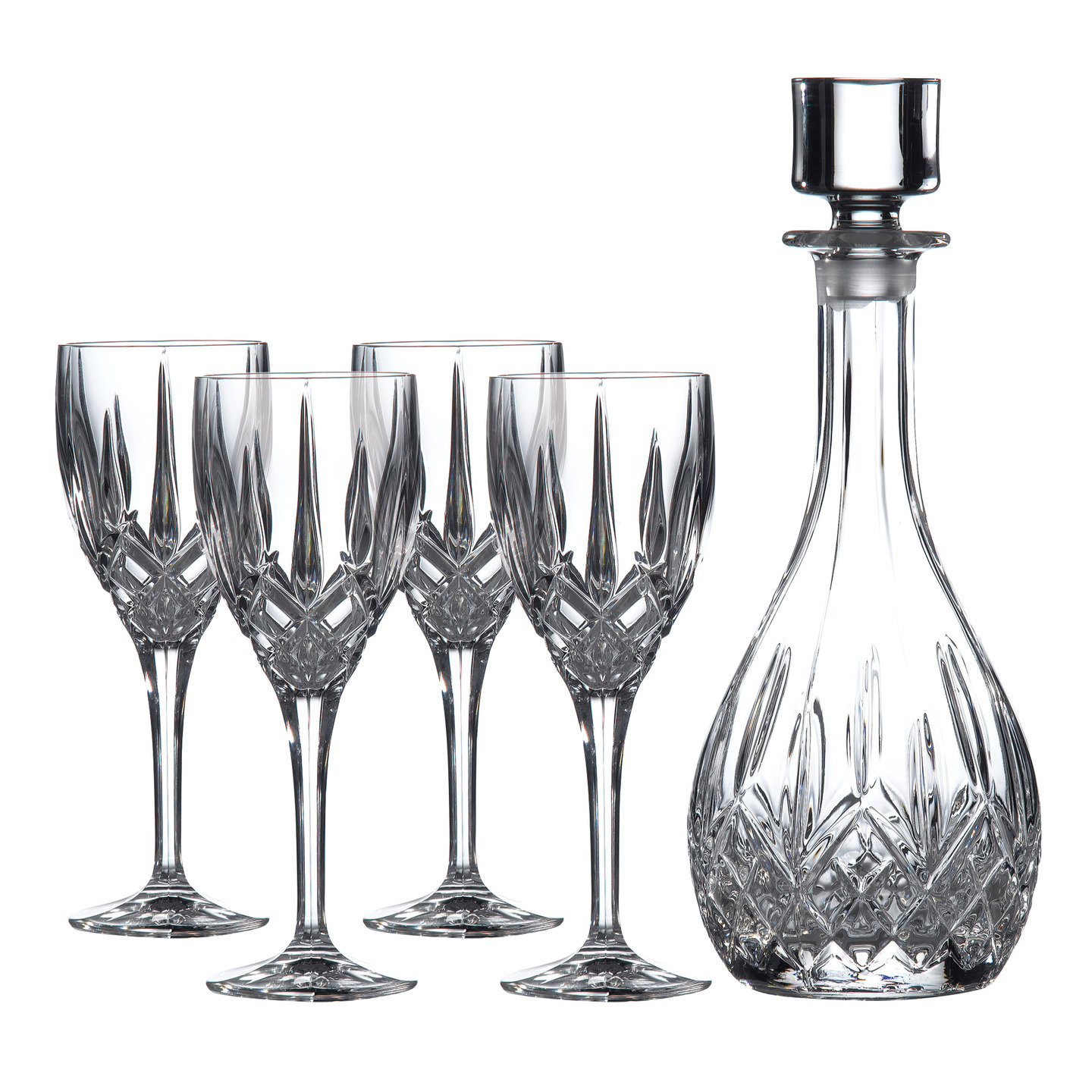 Exquisite decanter set for dining sets ideas with crystal decanter set