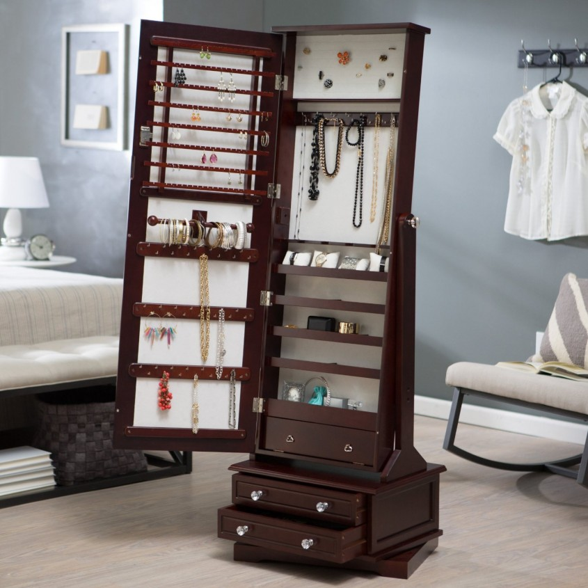 Fantastic Cheval Mirror Jewelry Armoire For Home Furniture Ideas With White Cheval Mirror Jewelry Armoire