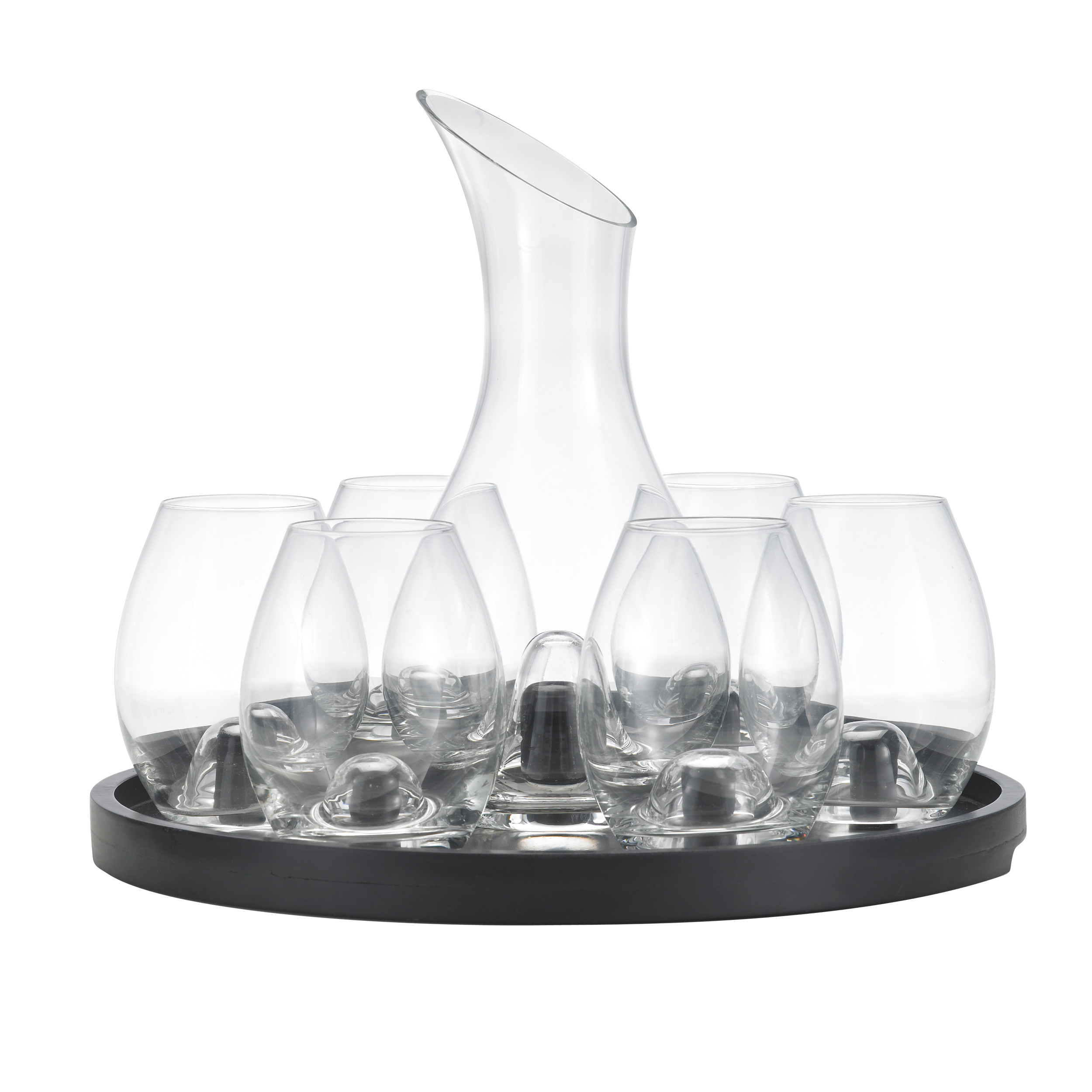 Fantastic decanter set for dining sets ideas with crystal decanter set