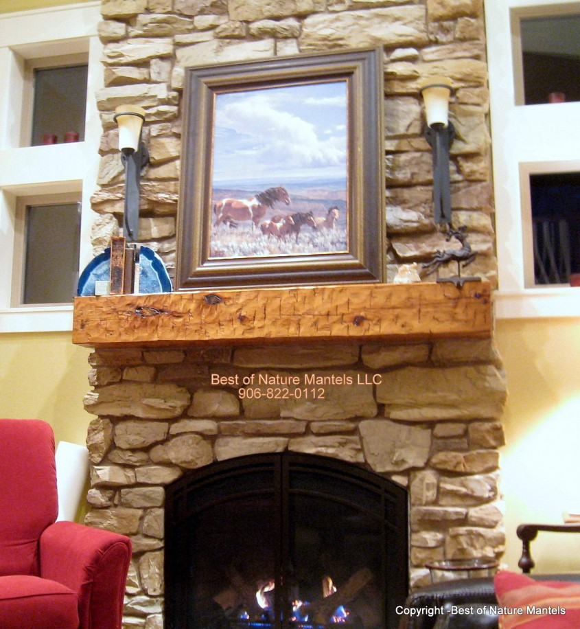 Fantastic Fireplace Mantle For Interior Living Room With Electric Fireplace With Mantle
