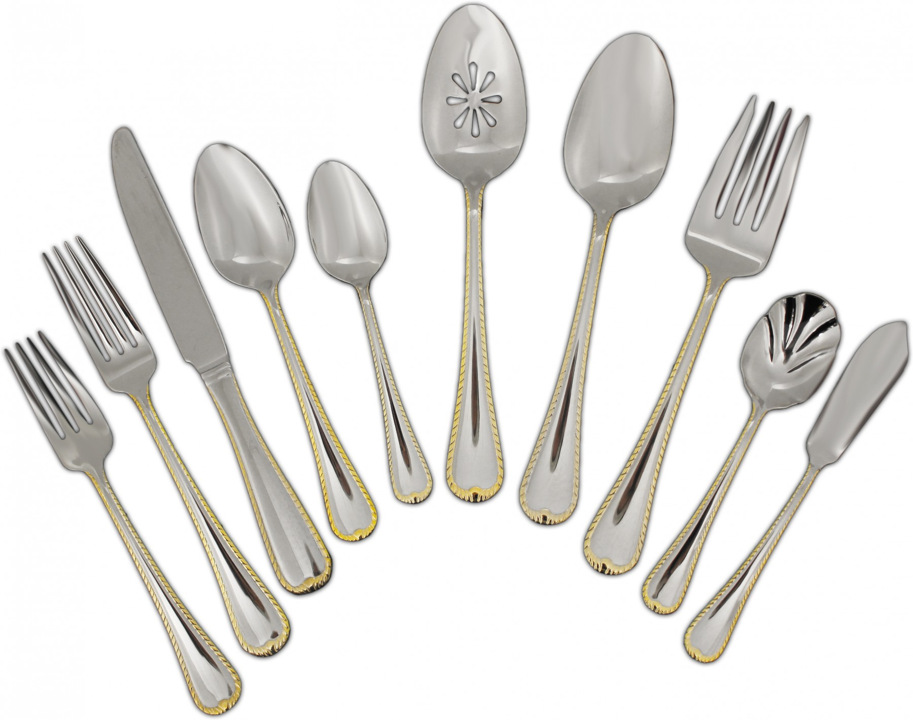Fantastic gold flatware for kitchen and dining sets ideas with gold flatware set
