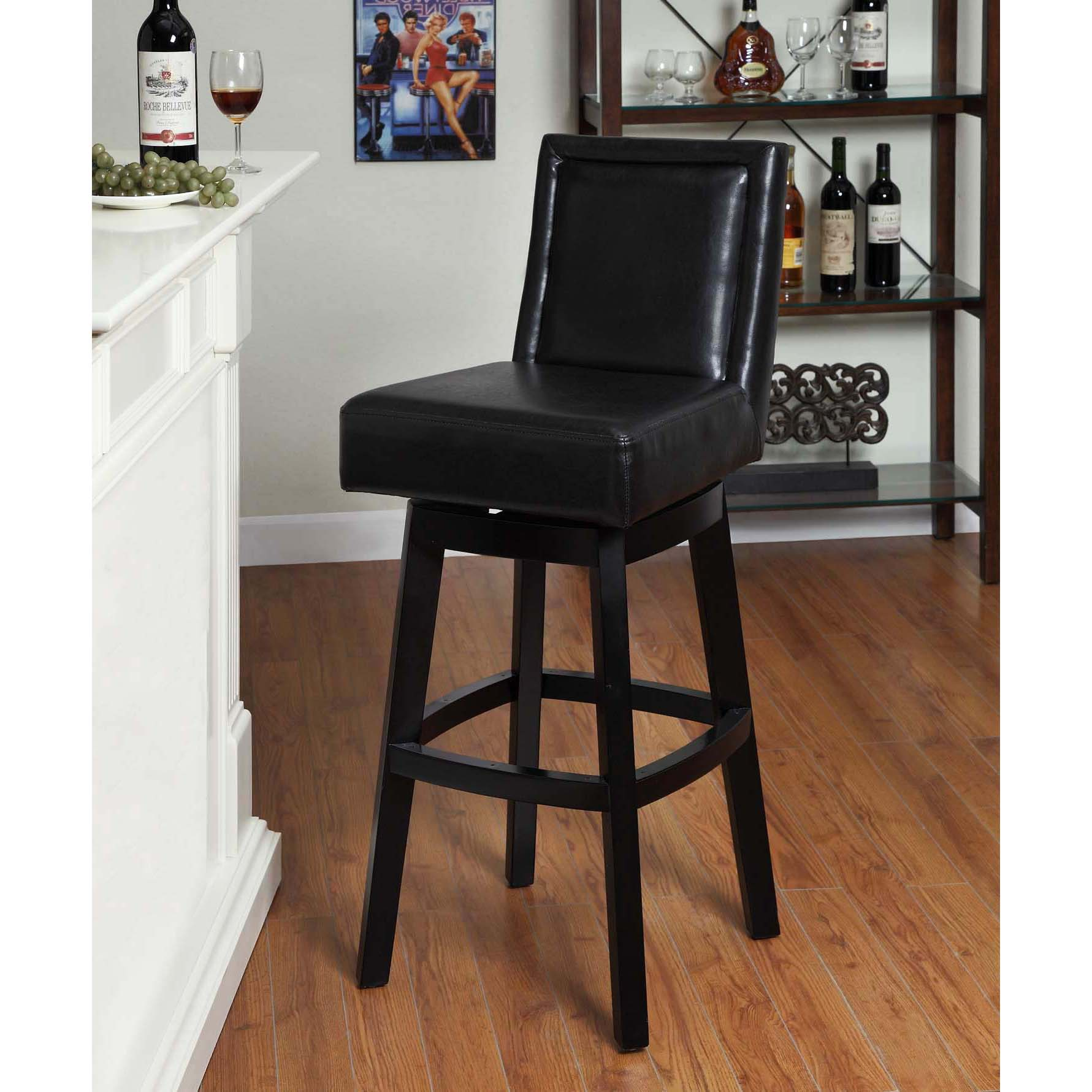 Fantastic leather bar stools for home furniture with leather swivel bar stools