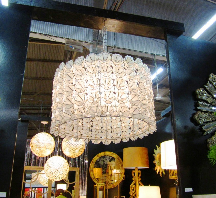 Gorgeous Capiz Chandelier For Home Lighting Design With Rectangular Capiz Chandelier