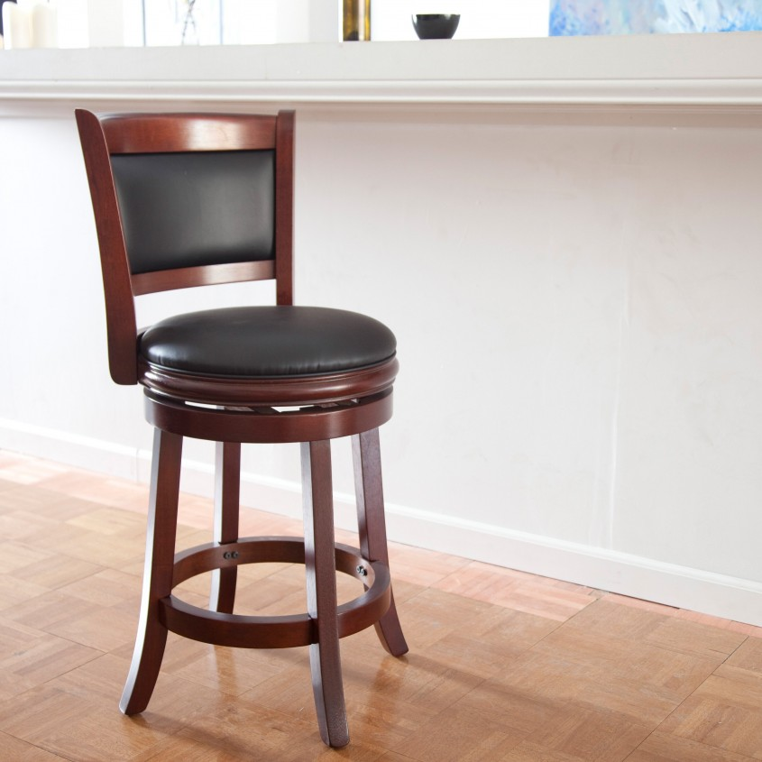 Gorgeous Leather Bar Stools For Home Furniture With Leather Swivel Bar Stools