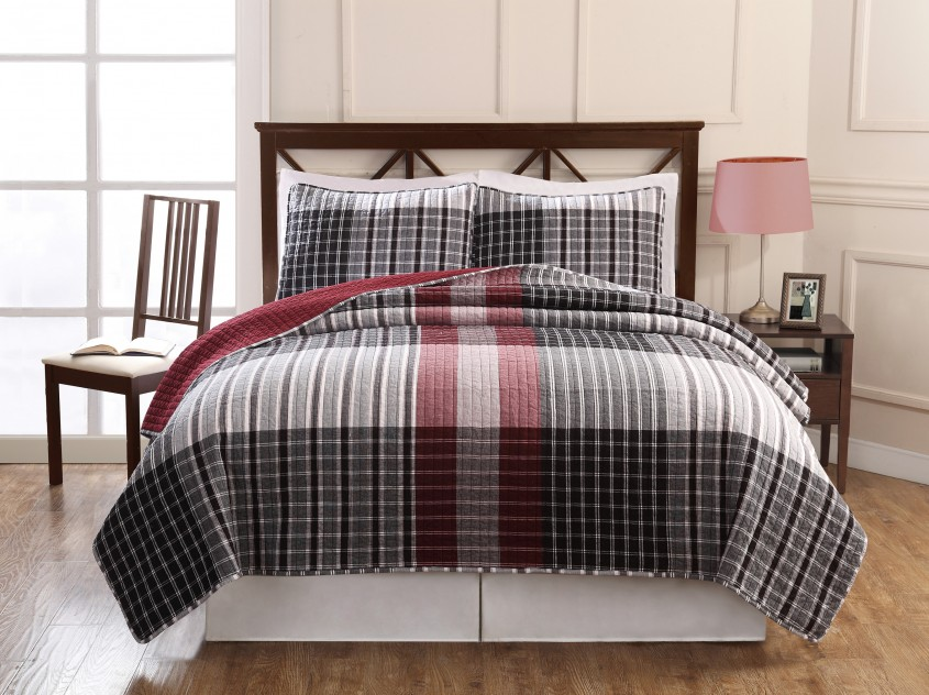 Gorgeous Plaid Bedding For Simple Bedroom Design With Ralph Lauren Plaid Bedding