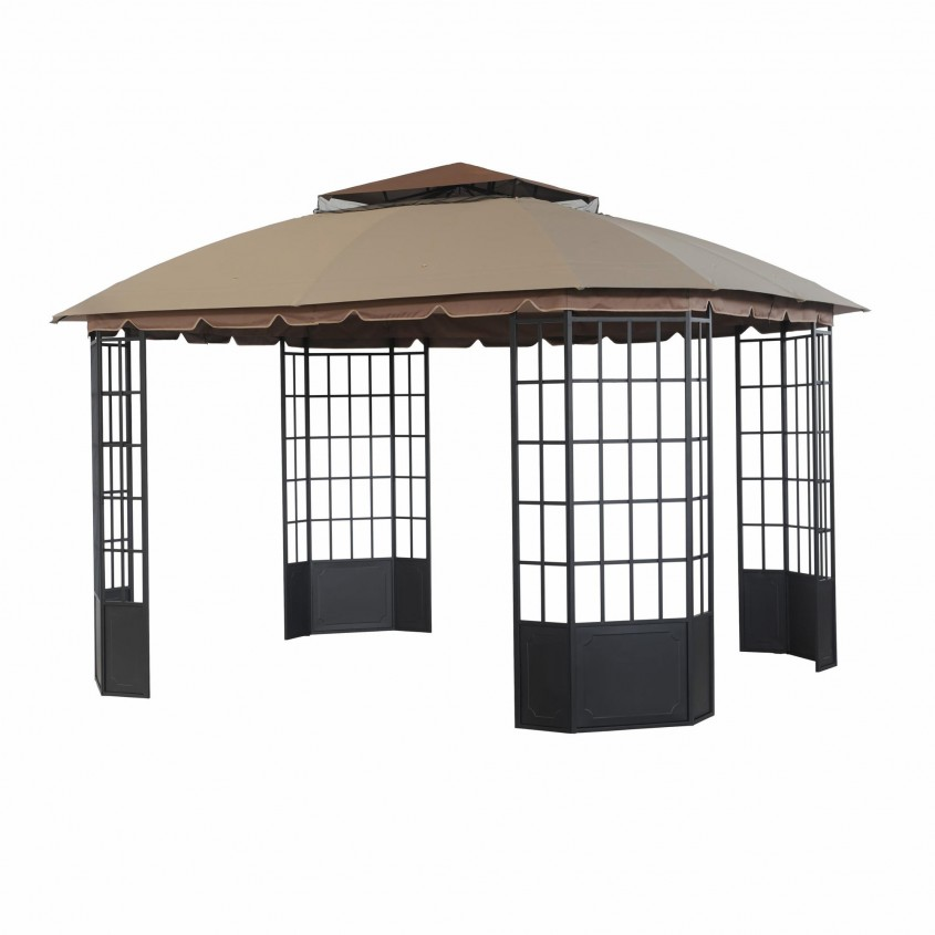 Gorgeous Sunjoy Gazebo For Garden Ideas With Sunjoy Hardtop Gazebo And Sunjoy Grill Gazebo
