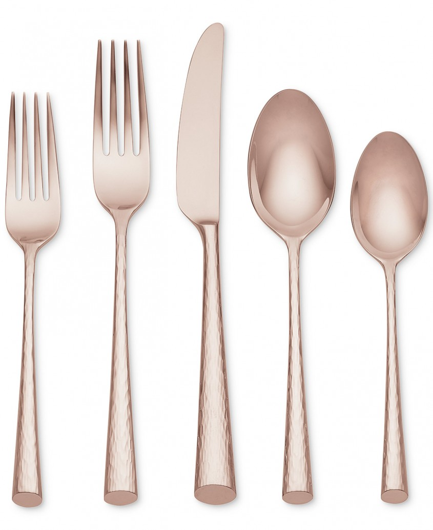 Great Gold Flatware For Kitchen And Dining Sets Ideas With Gold Flatware Set