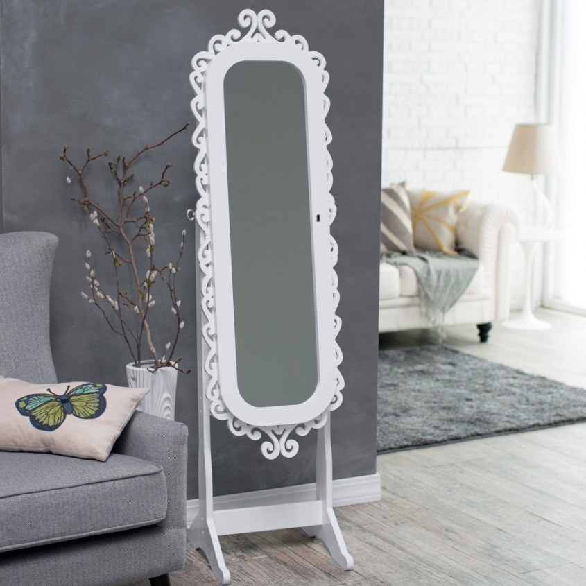 Impressive Cheval Mirror Jewelry Armoire For Home Furniture Ideas With White Cheval Mirror Jewelry Armoire